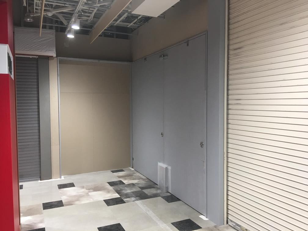 スチール製大型防火ドア|東京都お台場某大型施設