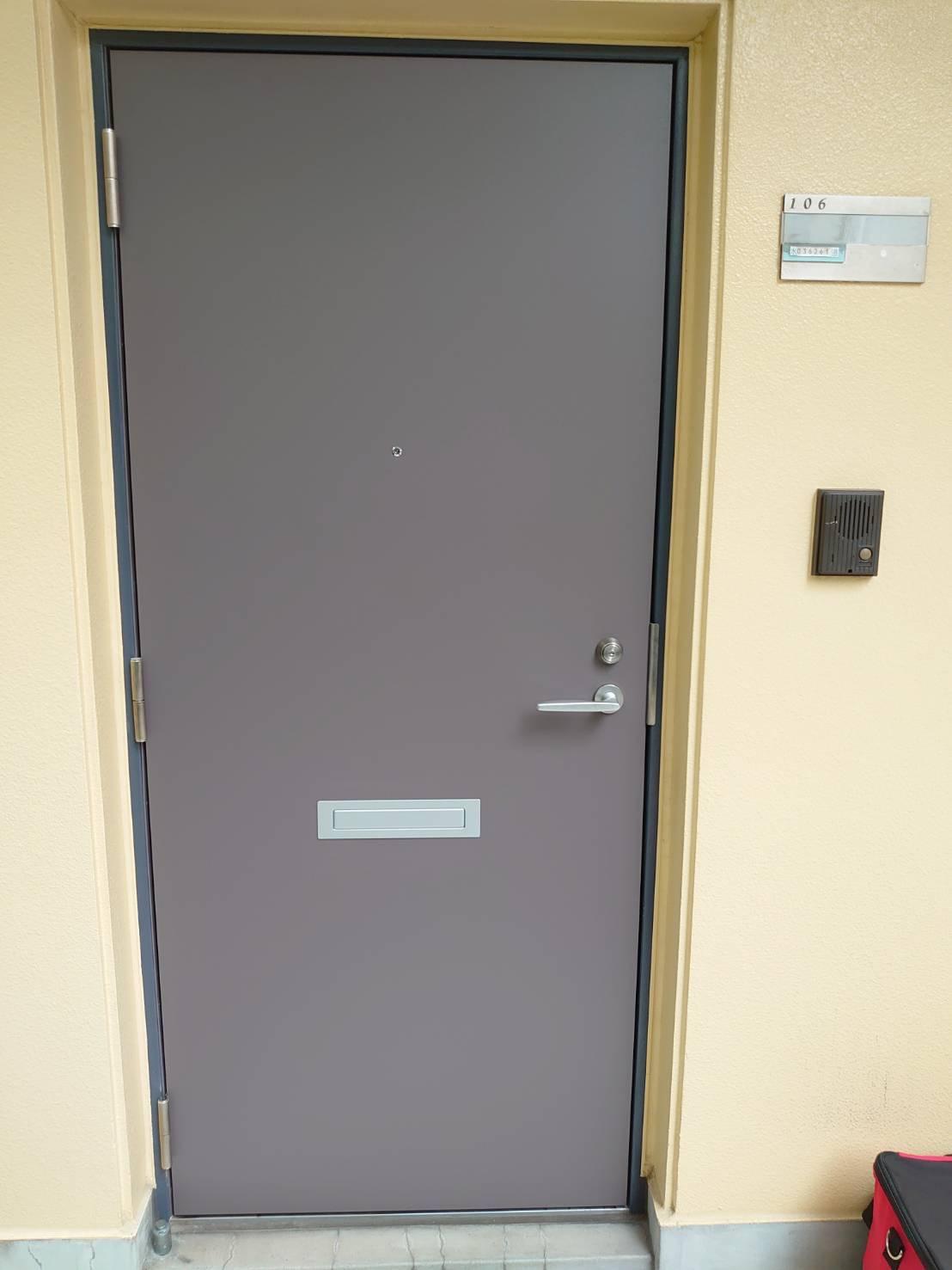 玄関ドア 扉のみ交換|東京都荒川区内某マンション